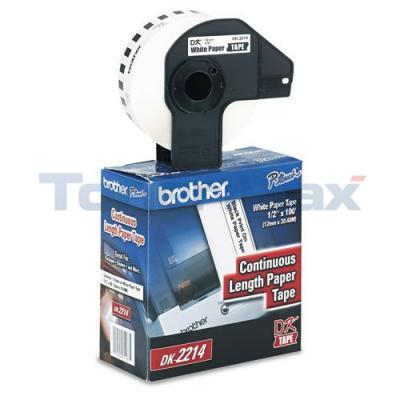 BROTHER P-TOUCH DURABLE CONT. PAPER TAPE 1/2IN